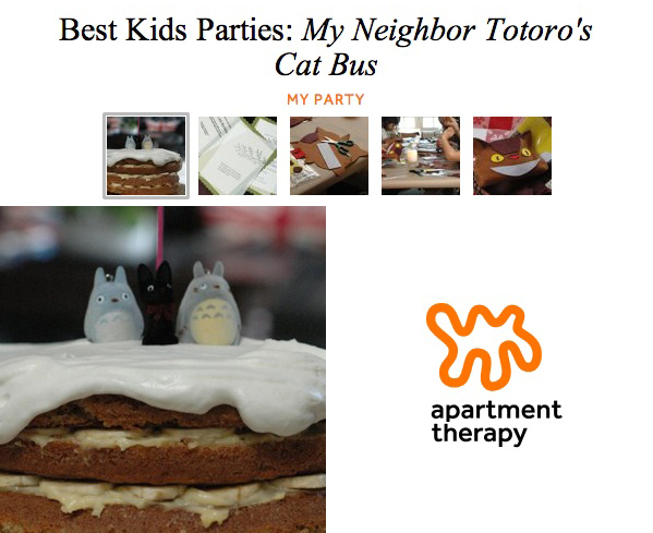 Apartment Therapy Best Kids Parties: Totoro