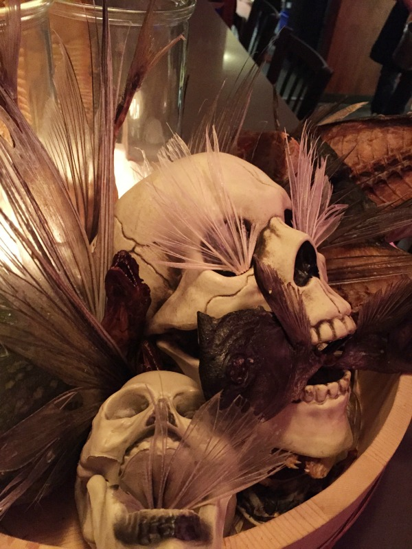 Pink Zebra Skull Decor