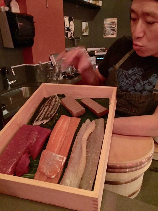 Pink Zebra Sushi Tray